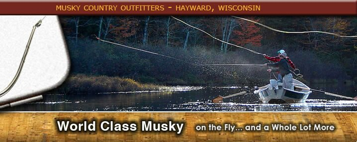 Fly Fishing for muskies with musky guide