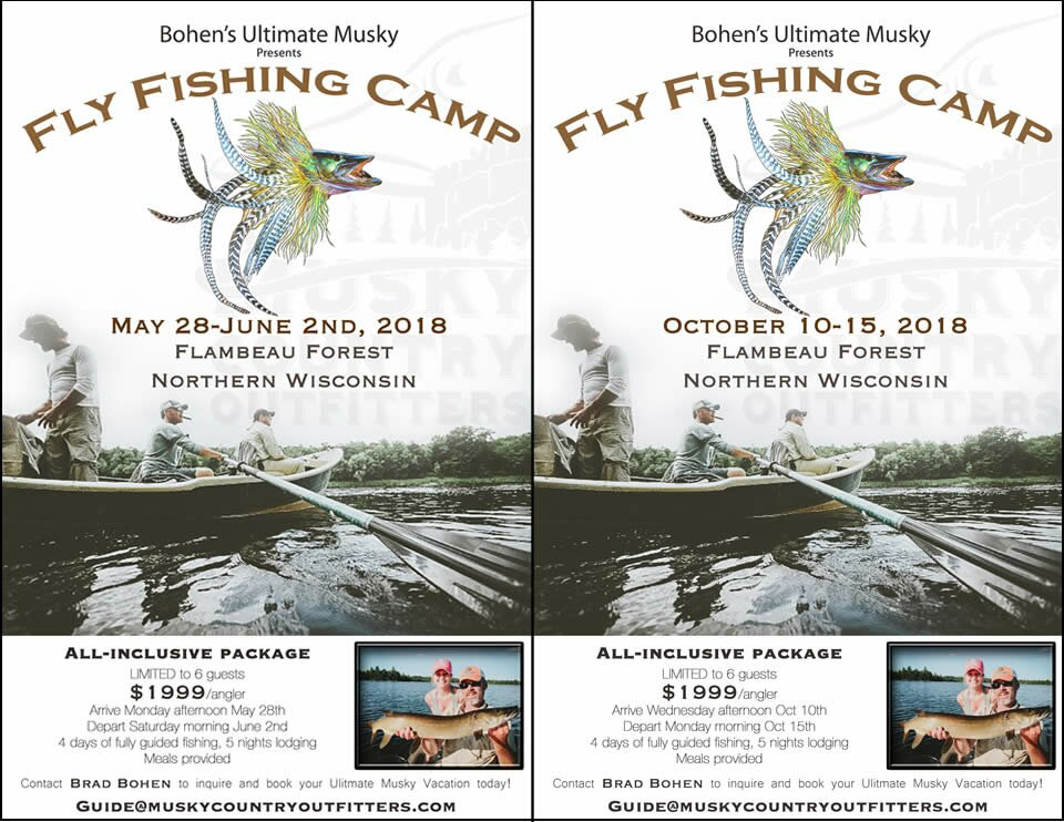 musky fly fishing camps